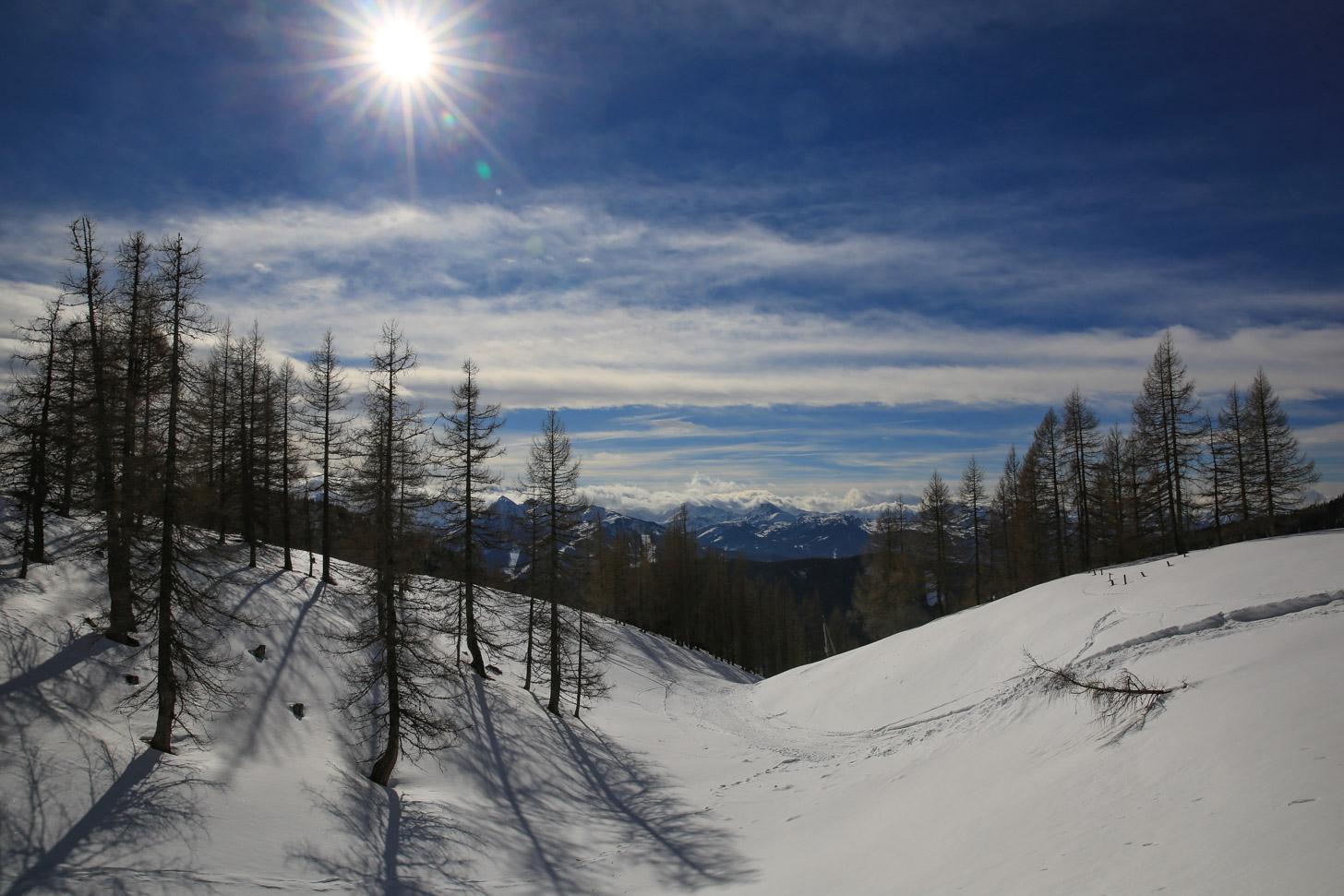 Het weer is een belangrijke factor op wintersport.